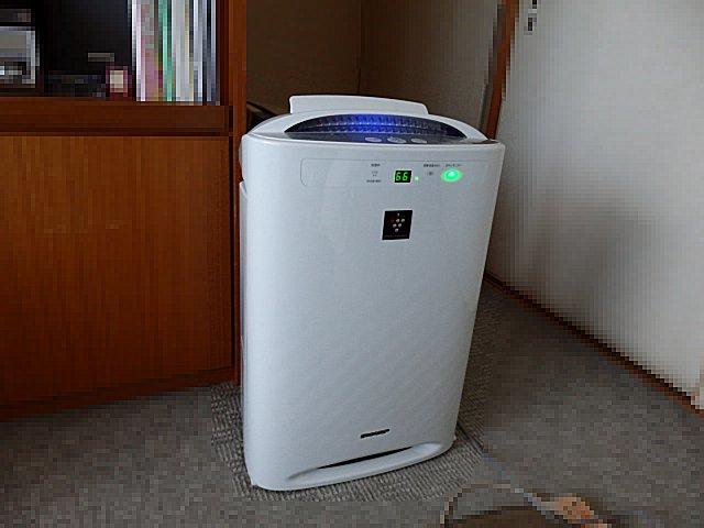 やっとプラズマクラスター空気清浄機を蔵出ししました。