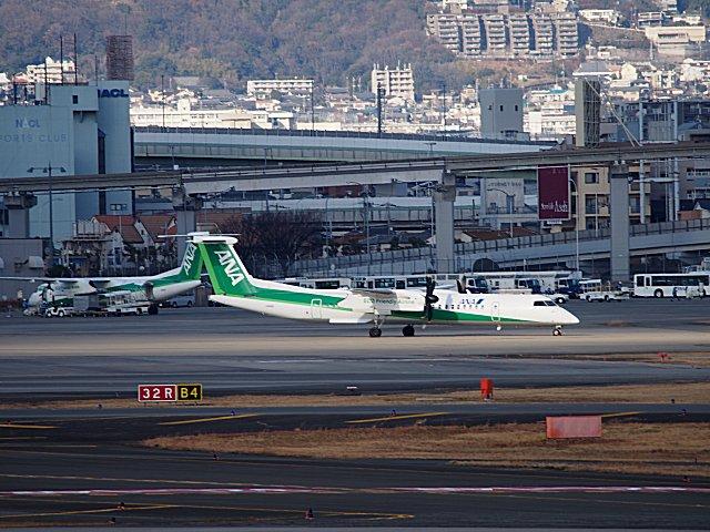 エコグリーンDHCが2機もいました。