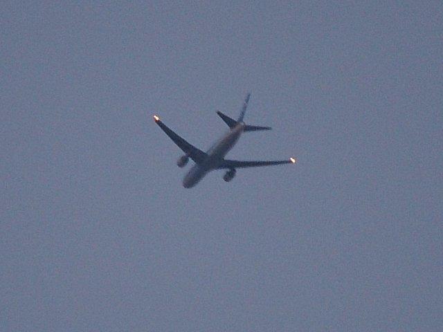 珍しく出発機を捉えました。