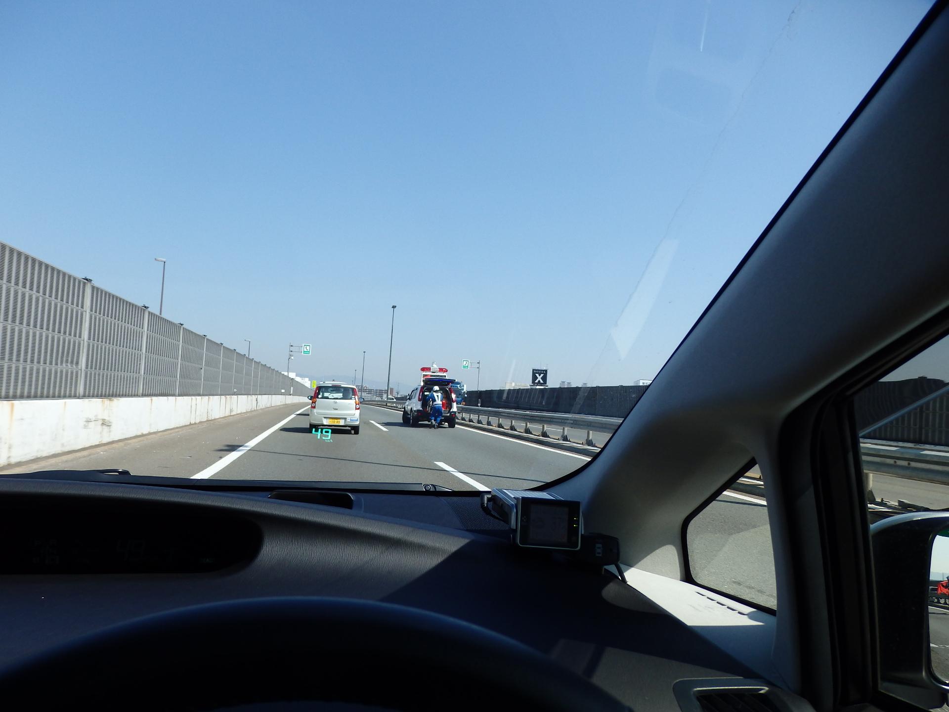 近畿道で事故渋滞。
