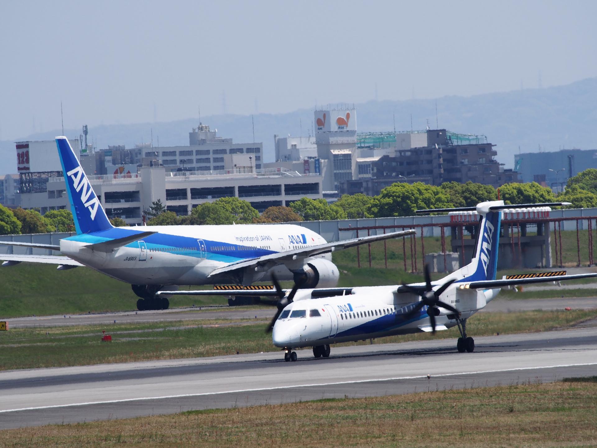 ボンバル機はRWY32Lからの離陸です。