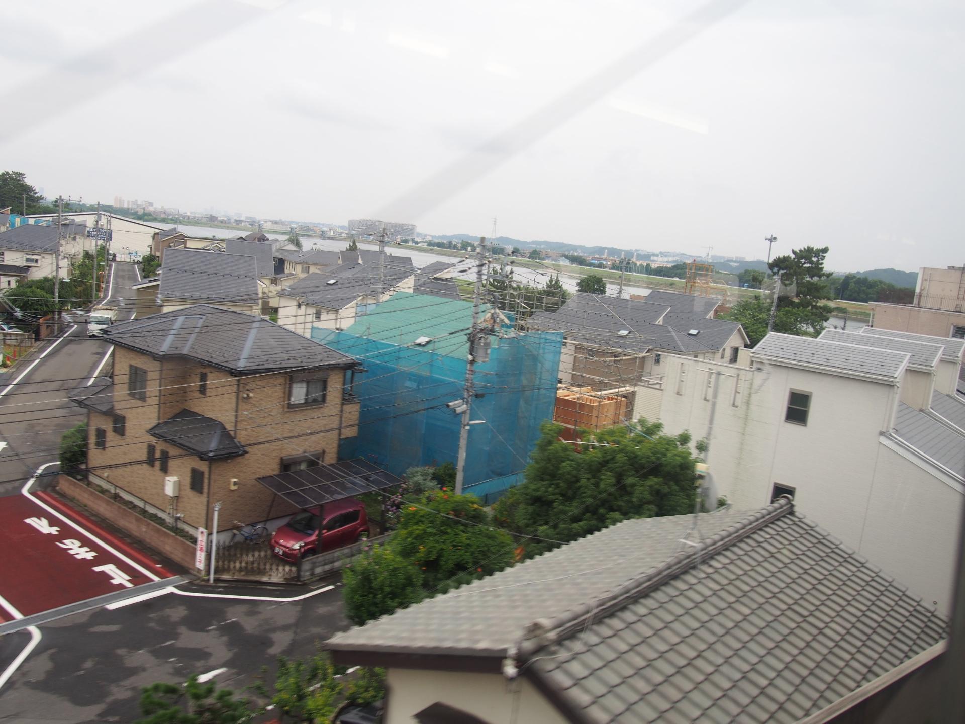 多摩川が異常増水したら一巻の終わりです。