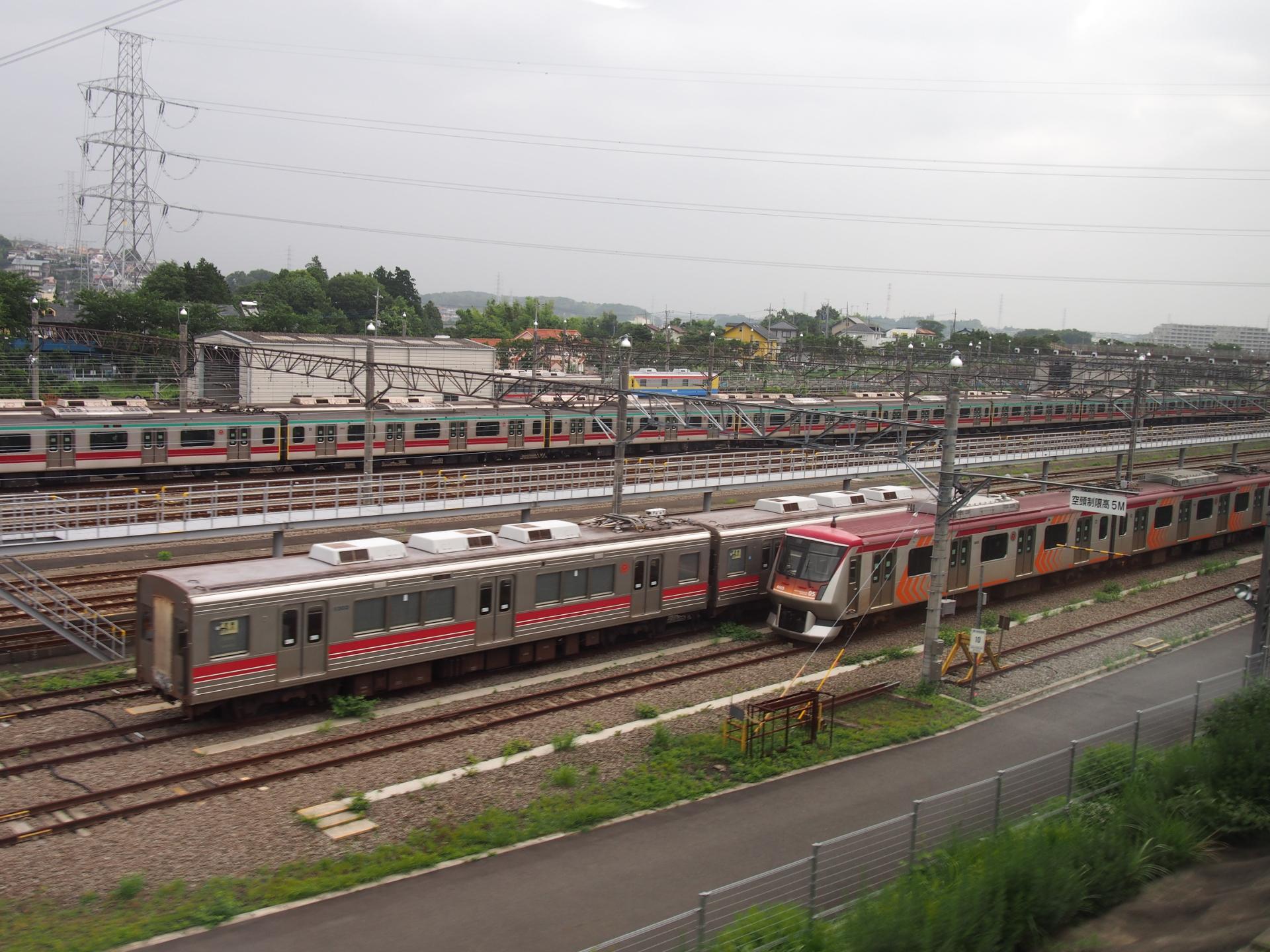 東急線長津田車庫です。