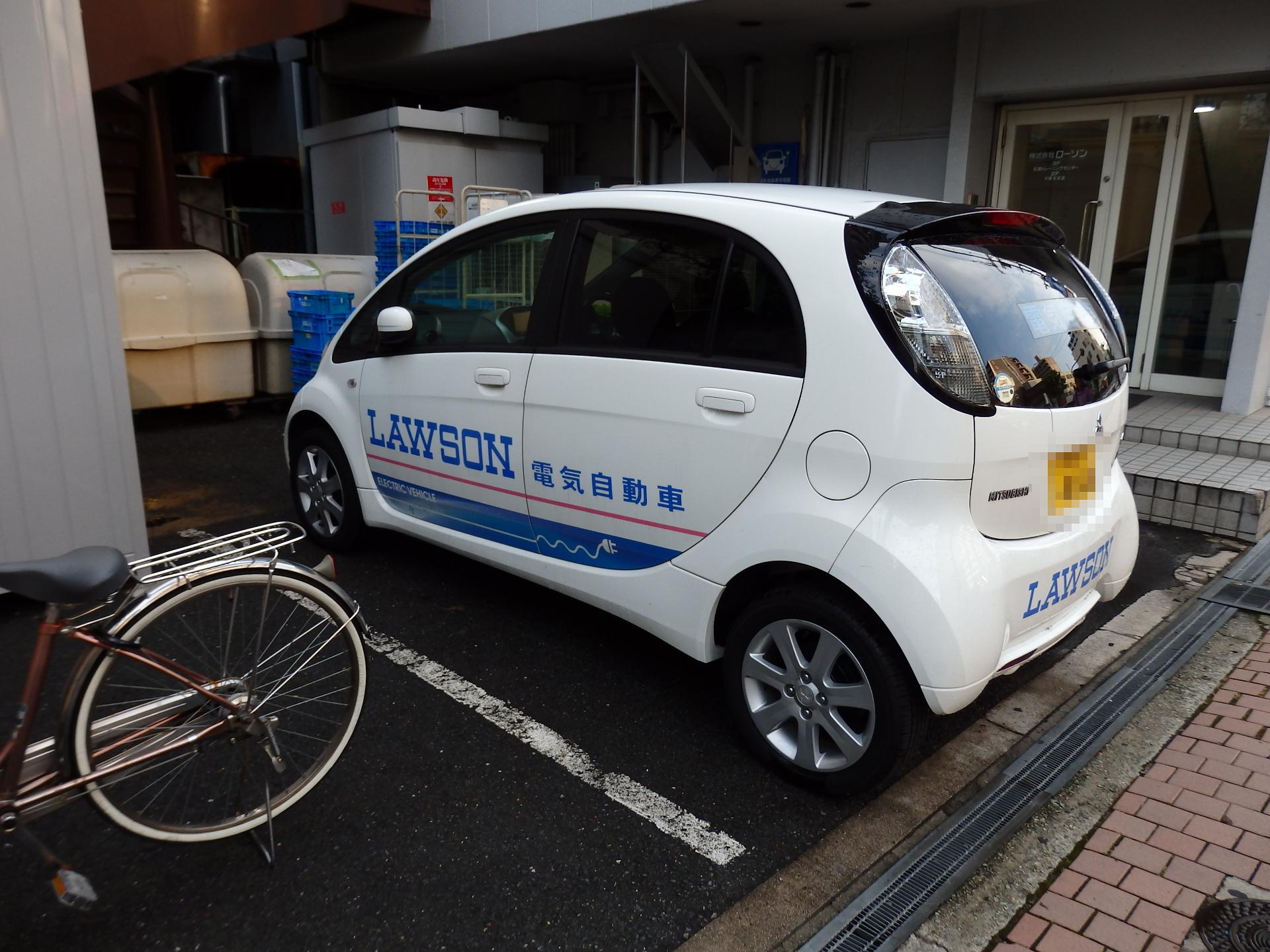 電気自動車(I-Miev)です。