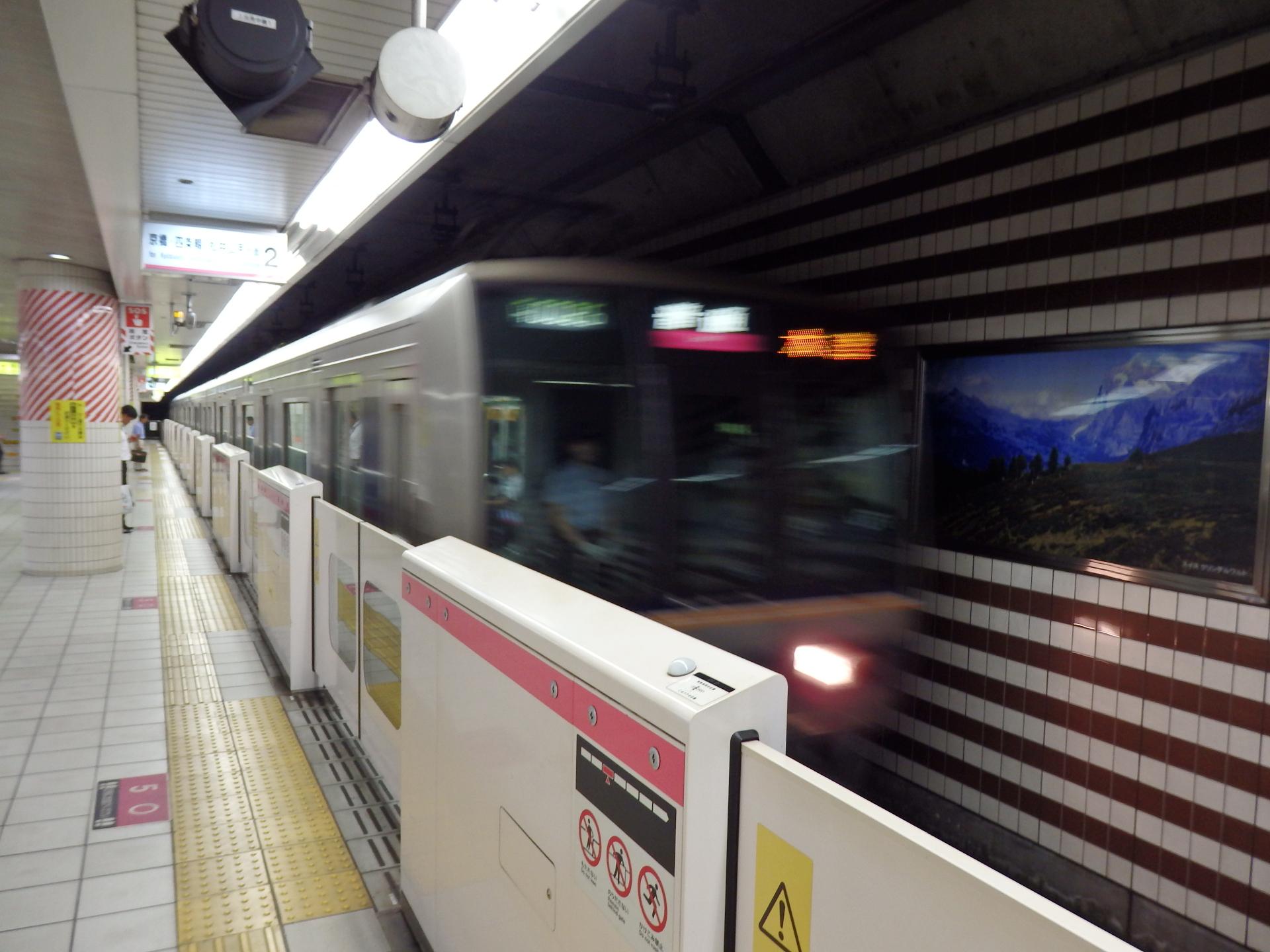 北新地駅です。