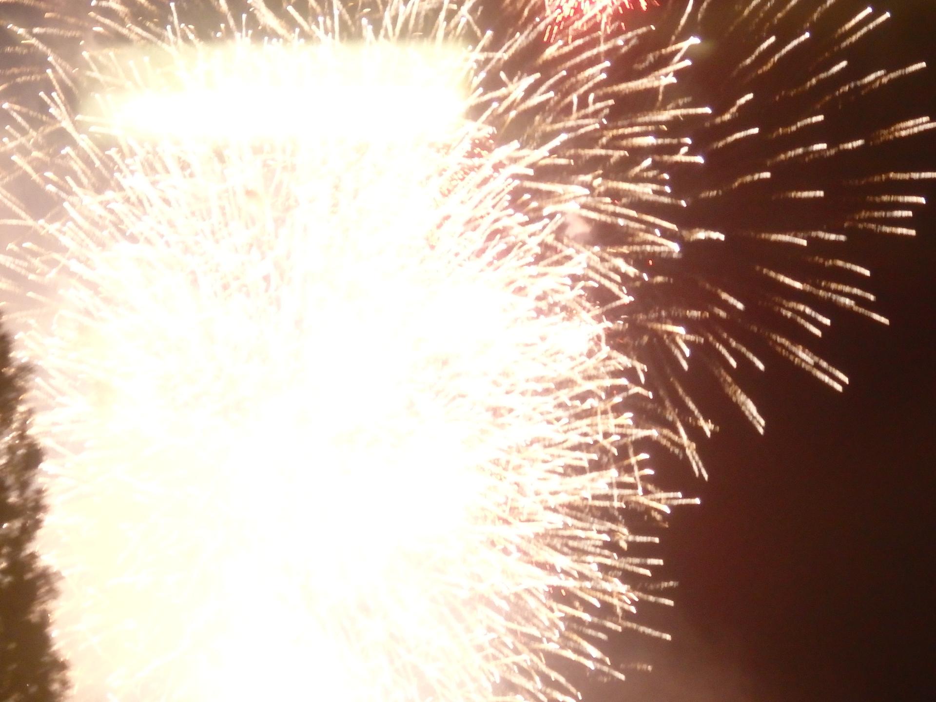 フィナーレの大花火です。