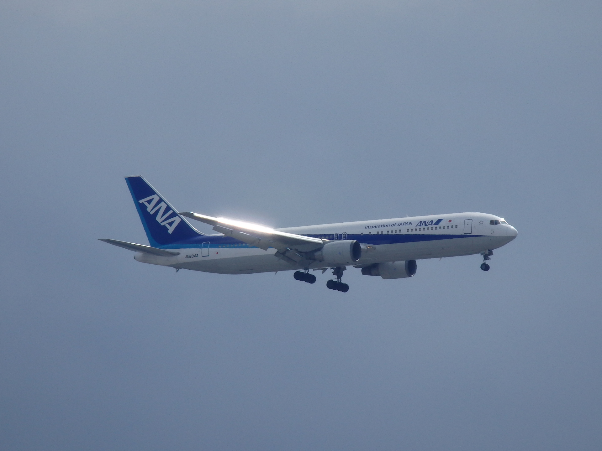 JA8342(B767-381)機です。