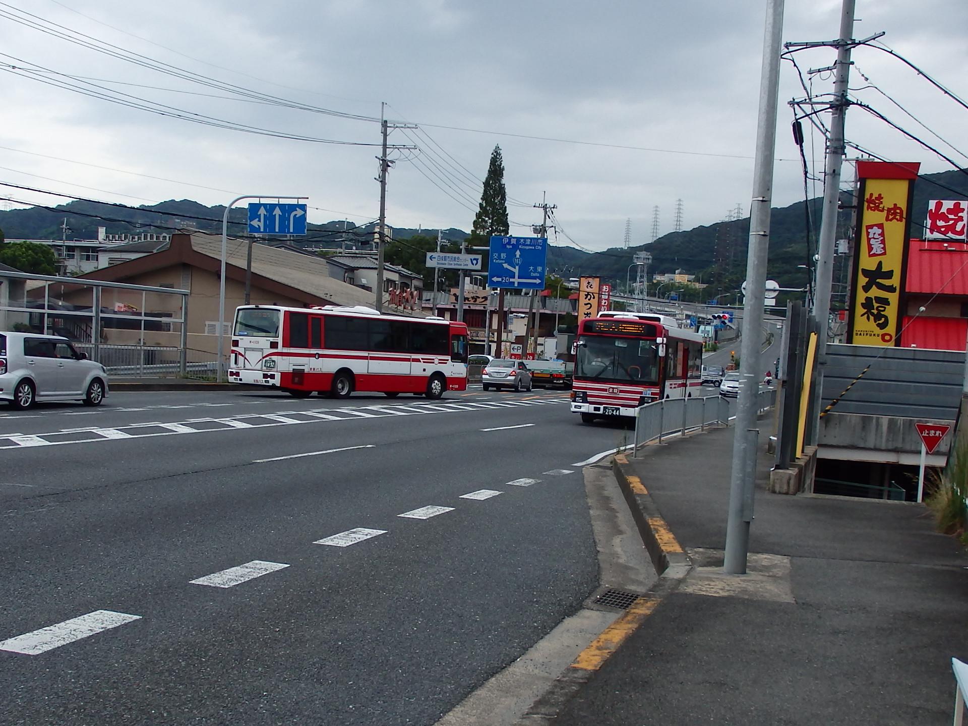 21系統大和田行京阪バスです。