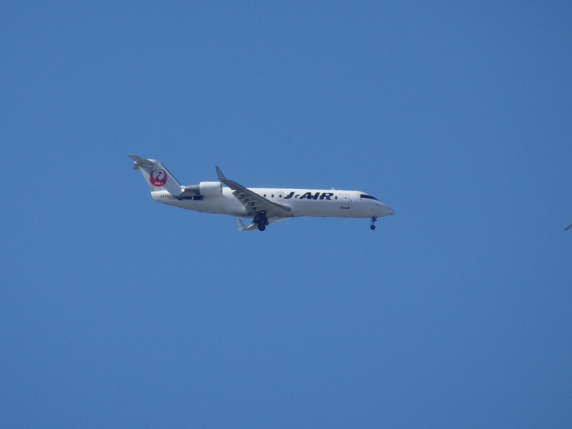JALのCRJ-200機です。