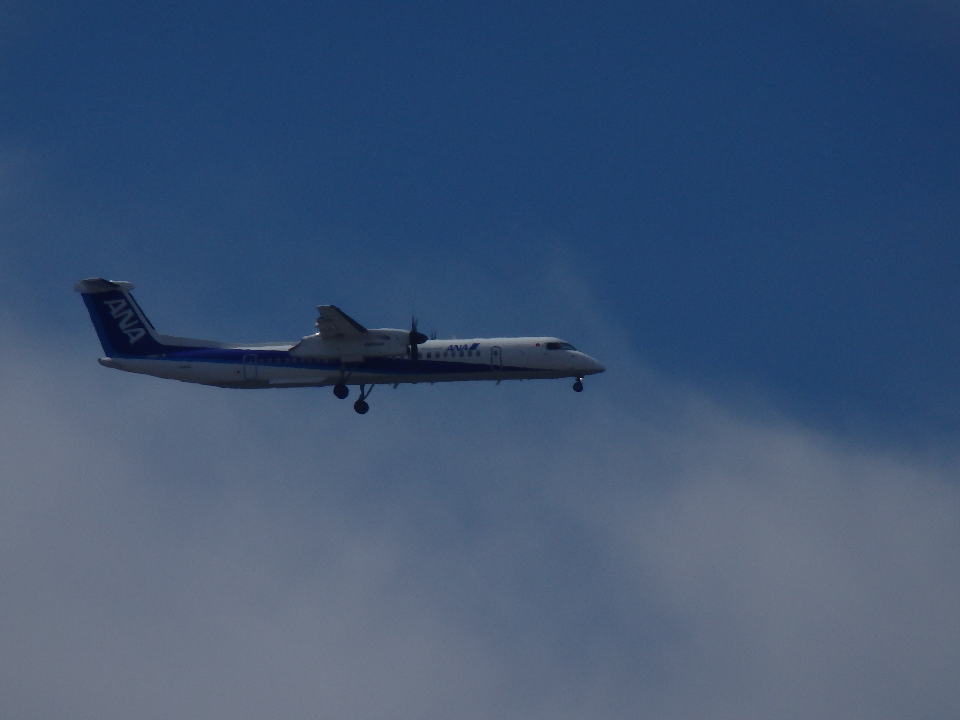 ボンQことボンバルディア・ダッシュQ400機です。