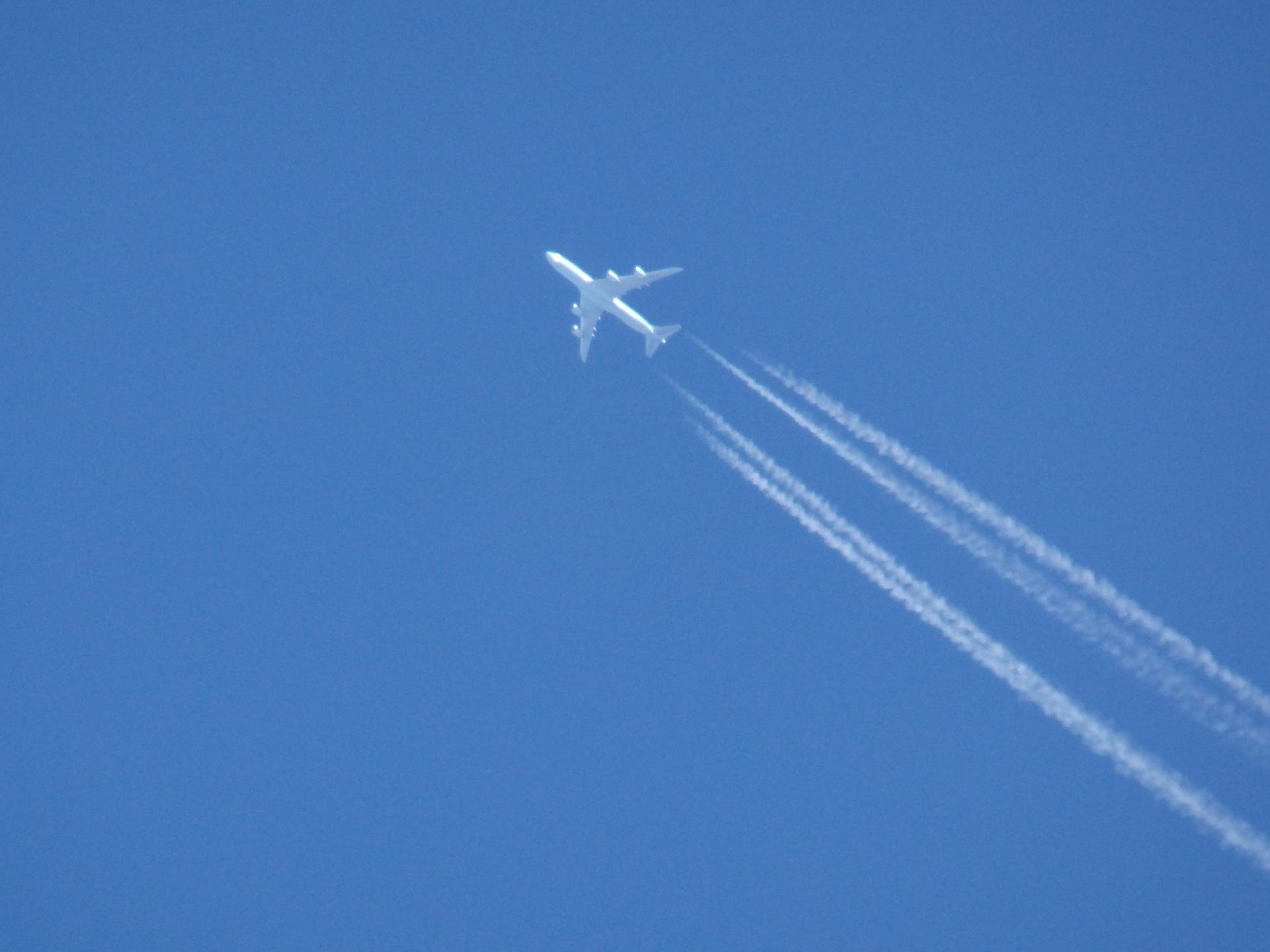 キャセイパシフィック航空のB747らしい。