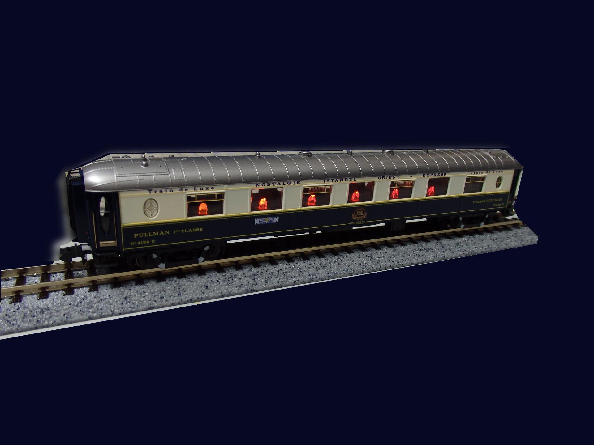 オリエント急行プルマン4158箱根ラリック美術館保存車です。