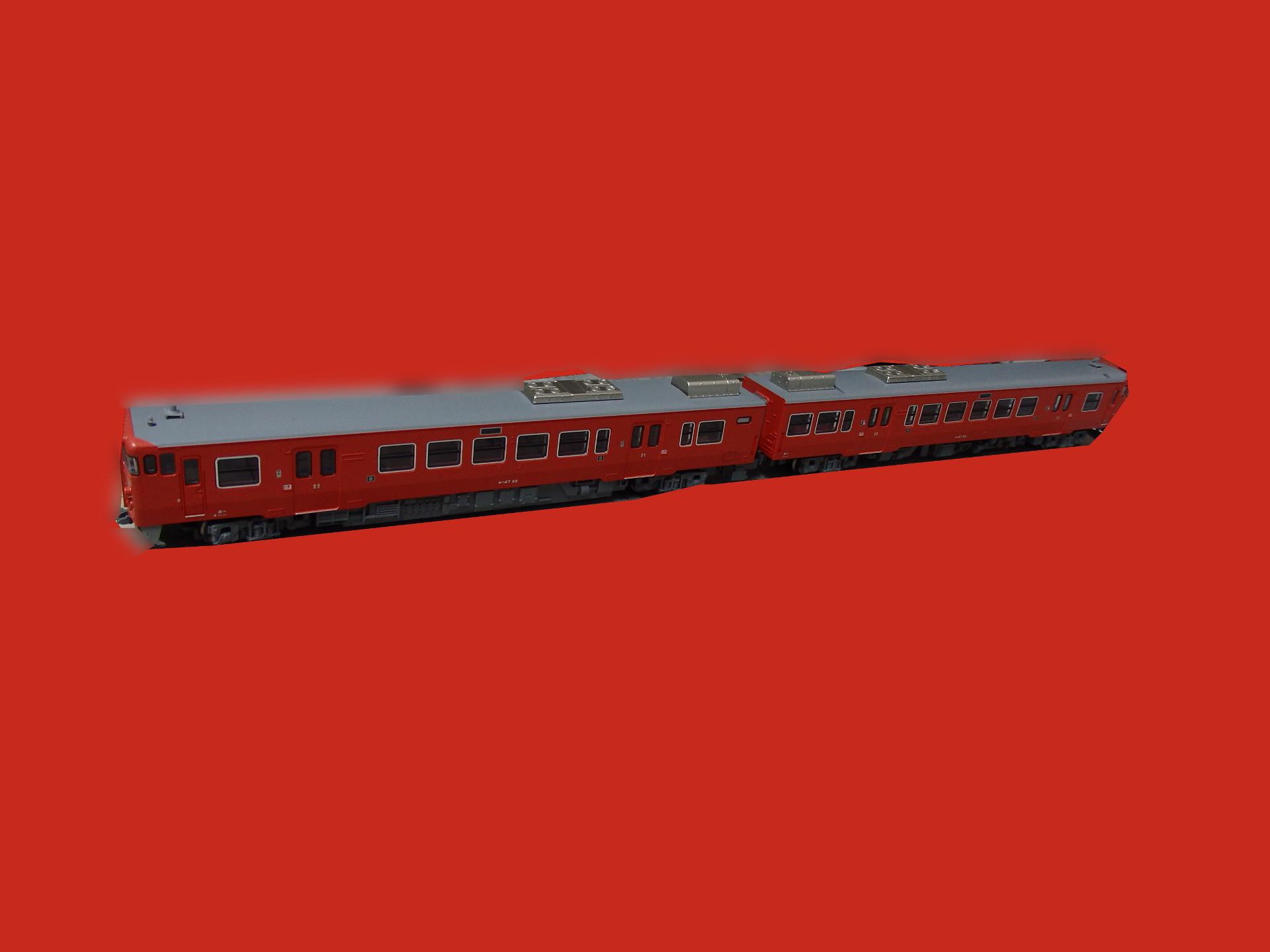 キハ47系0番台リニューアル車・首都圏色です。