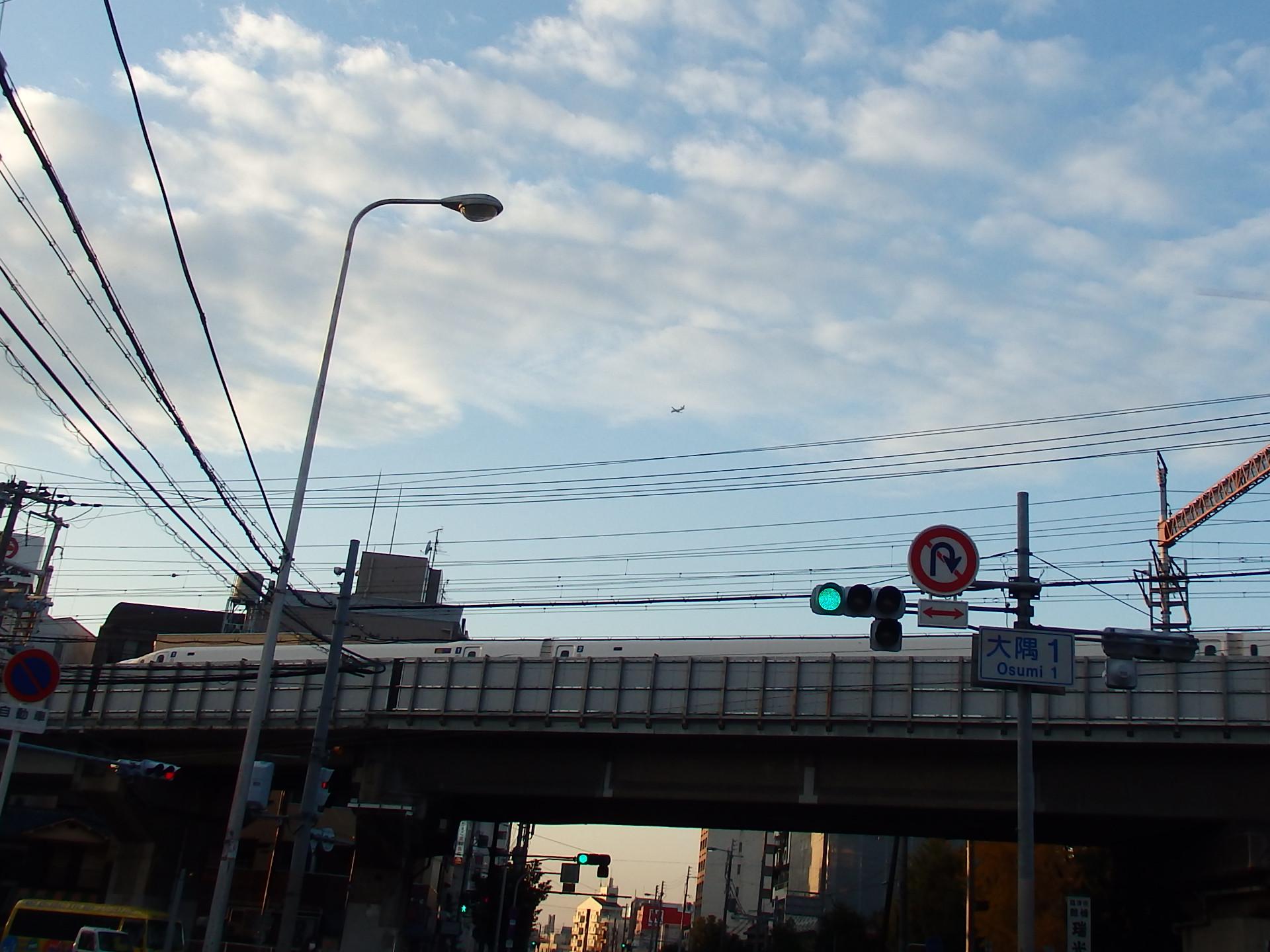 空と鉄道の融合です。