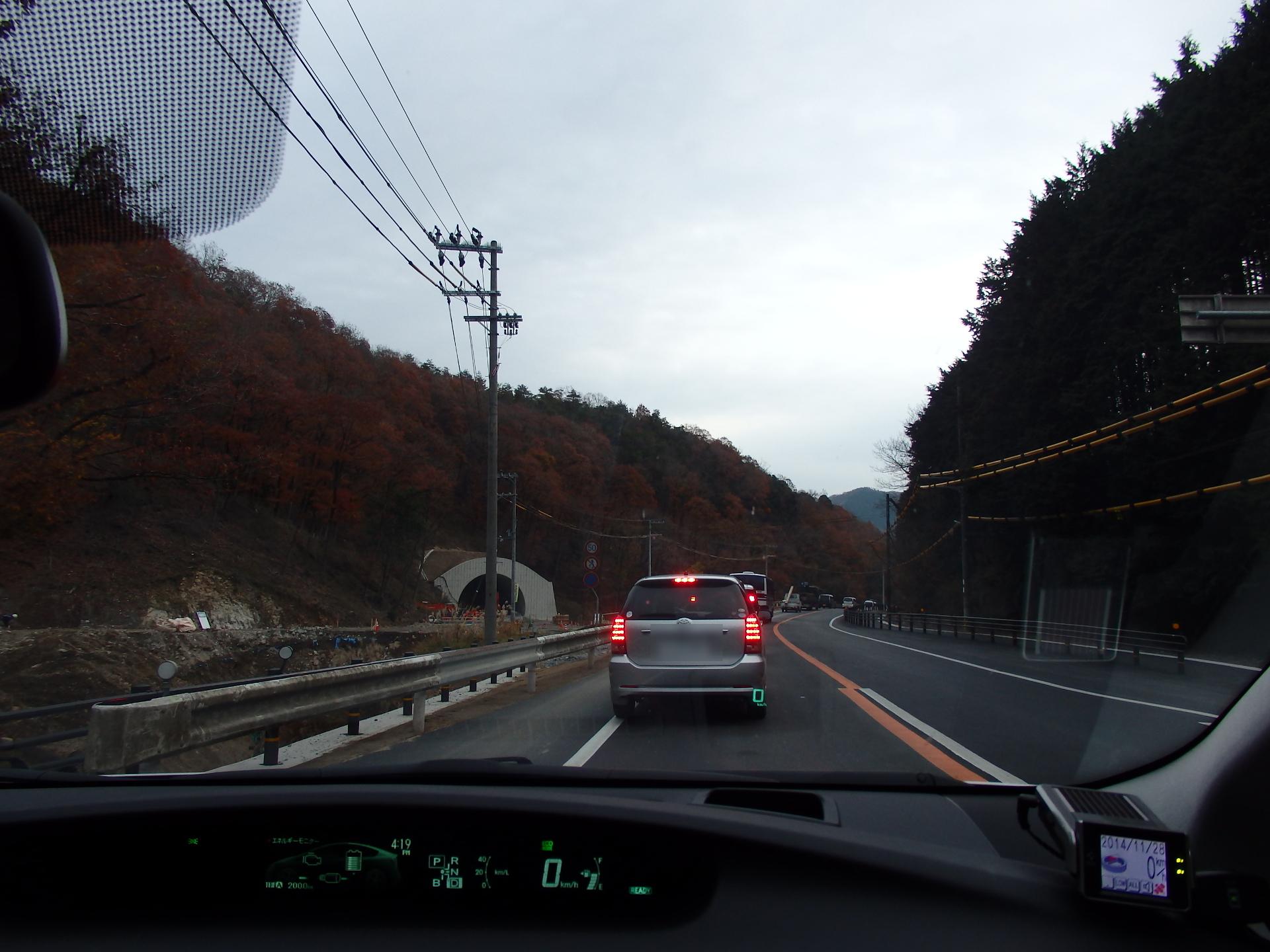 開通が待たれる播磨徳久トンネルです。