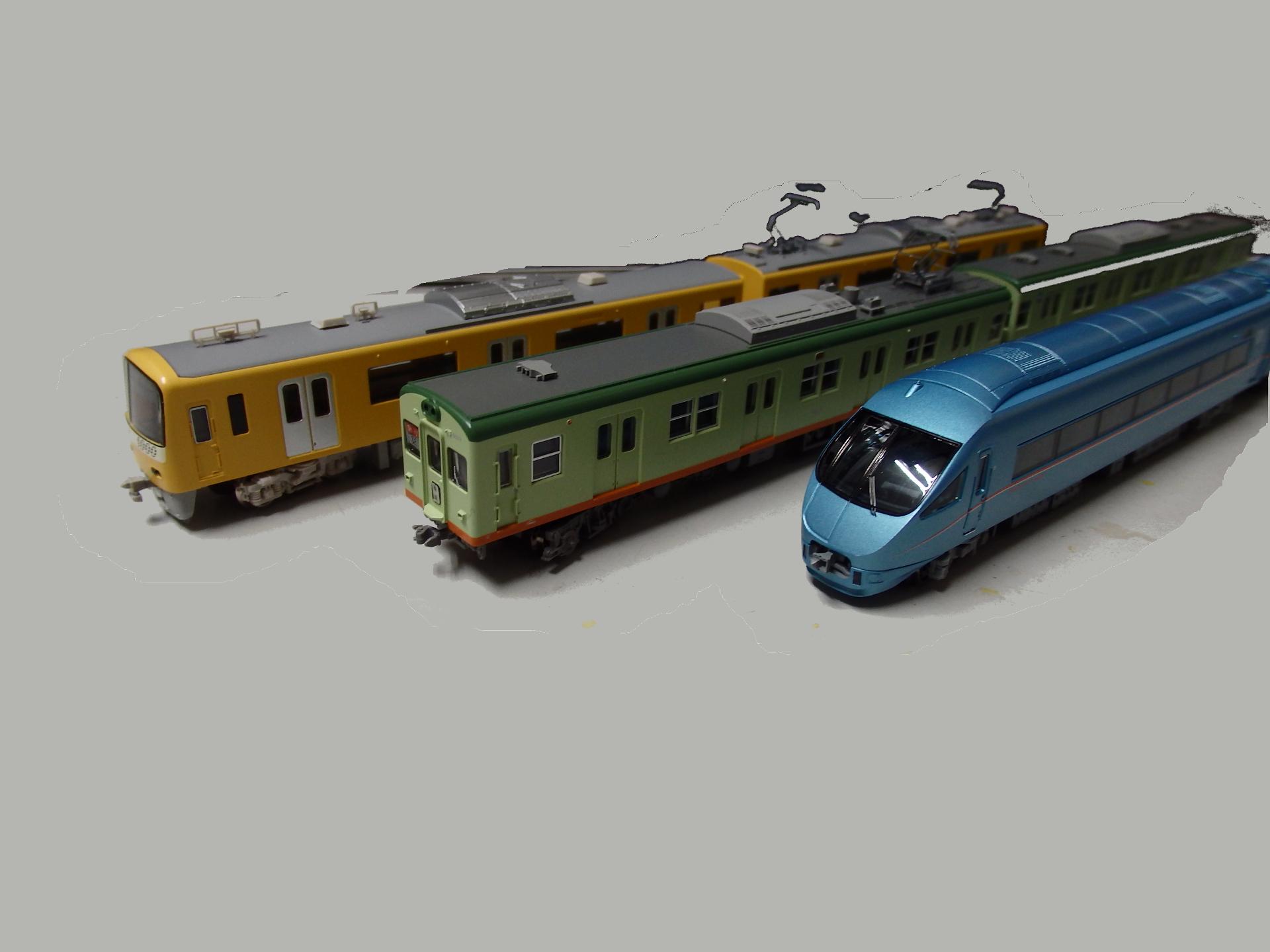 羽田から伊勢原方面まで乗り継ぐ京急、相鉄、小田急の車両たちです。