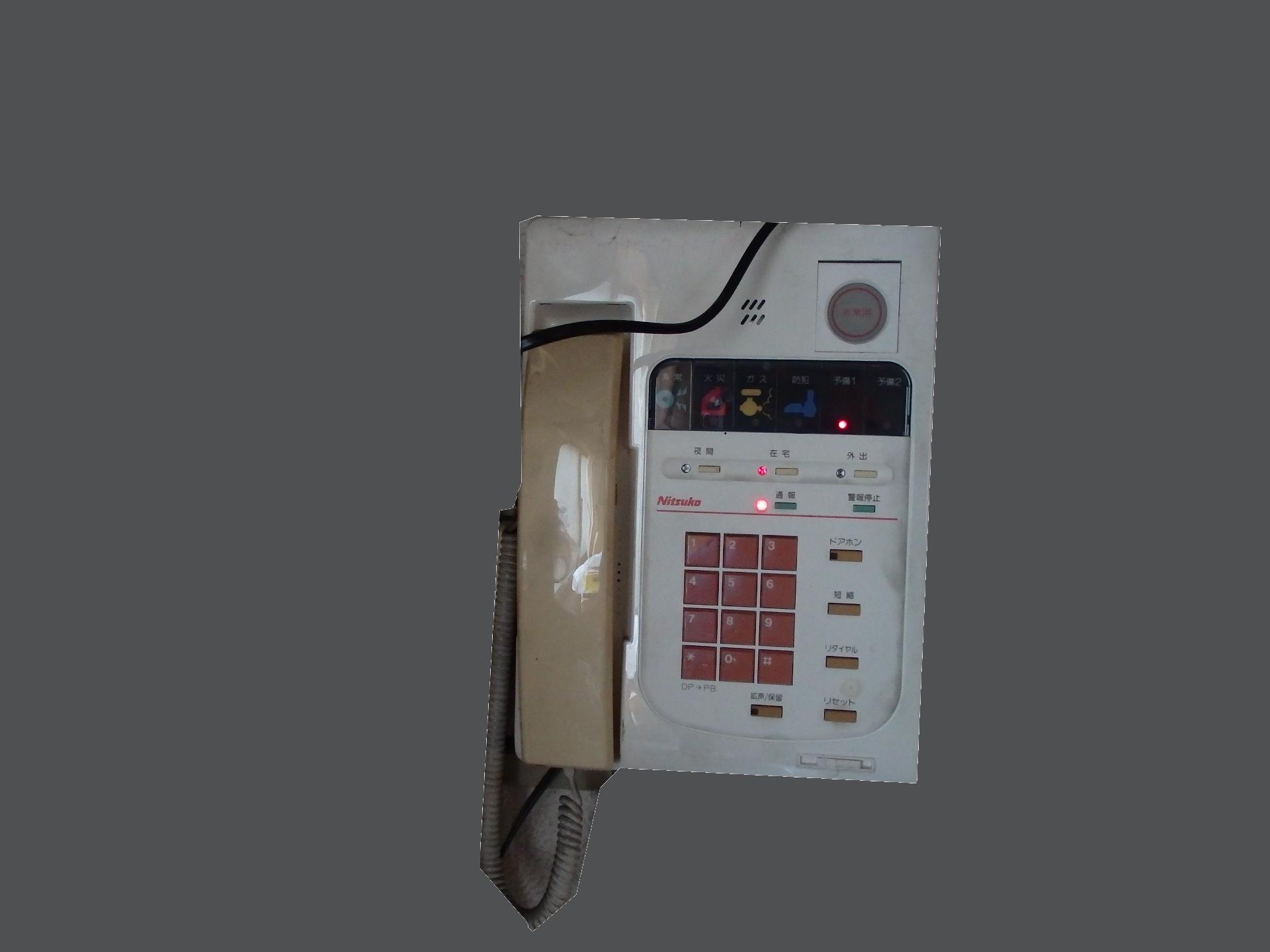 ガスメーター電話装置です。