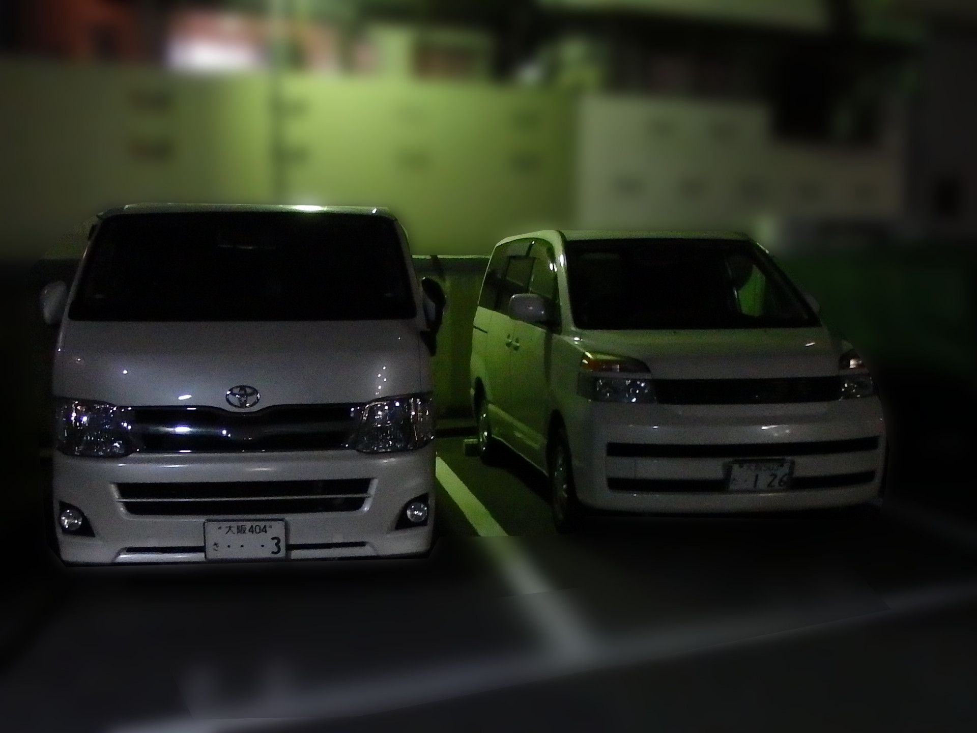 無断駐車のクルマです。