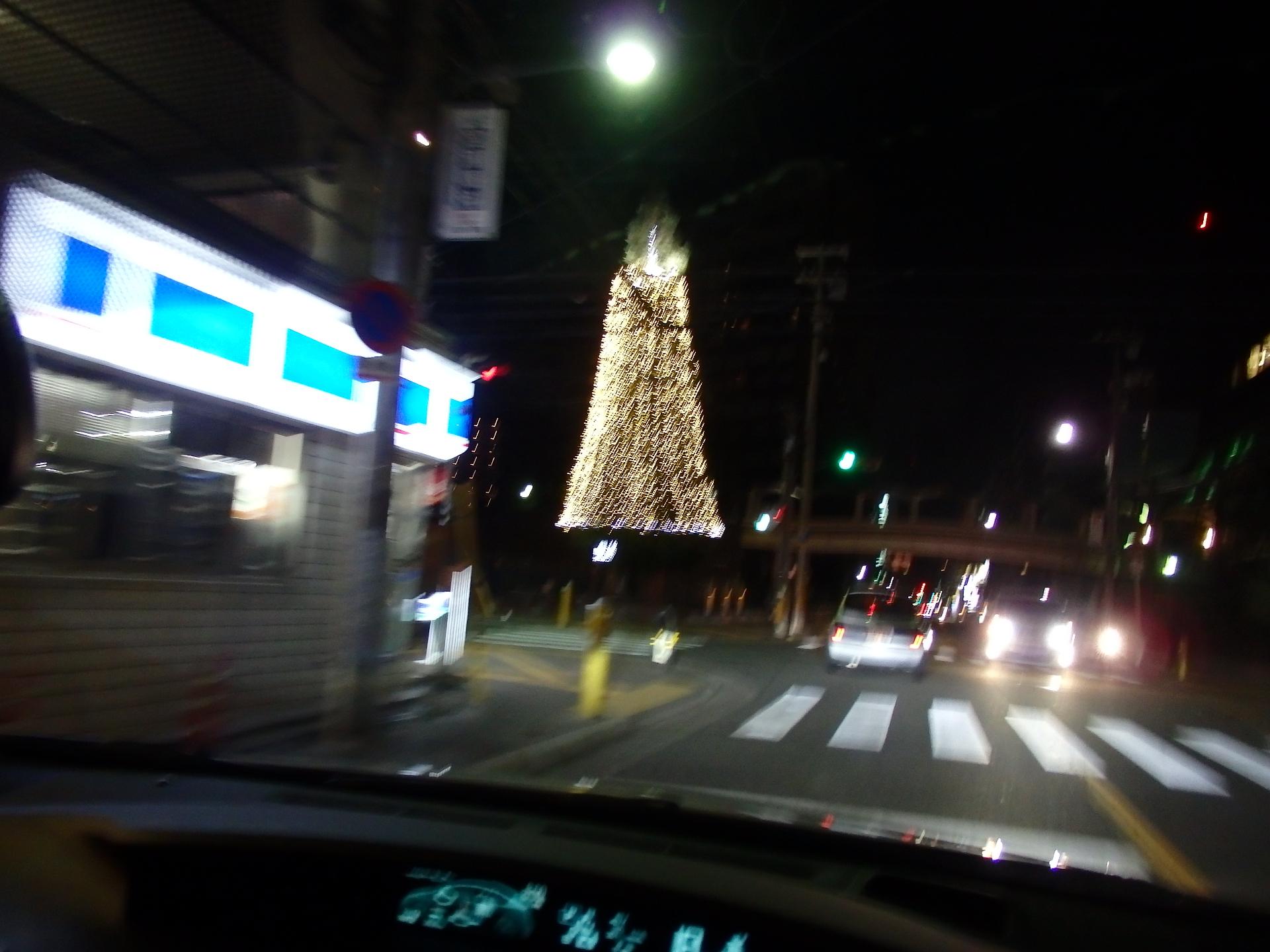 江坂公園のイルミネーションです。