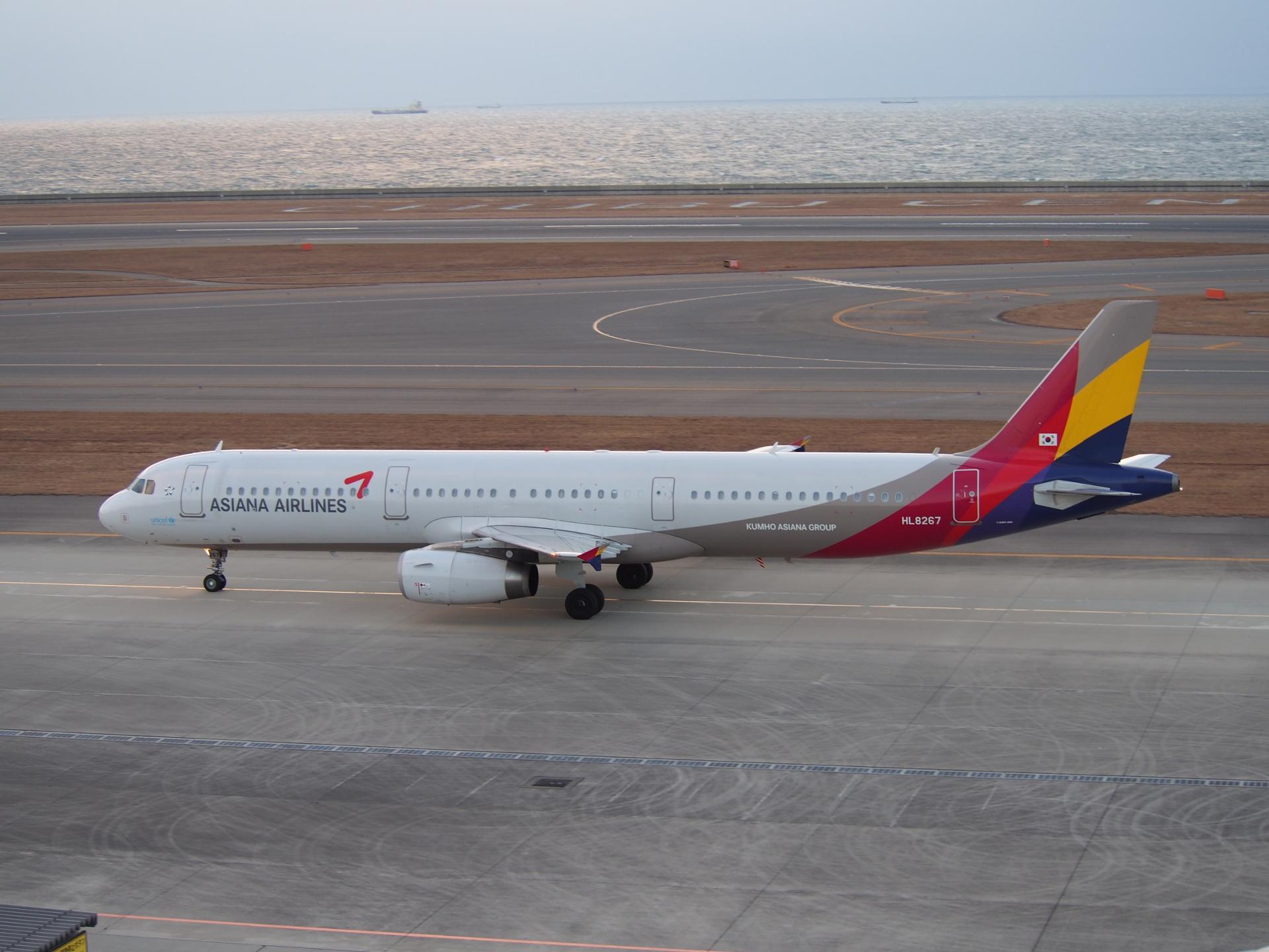 アシアナ航空のA321です。