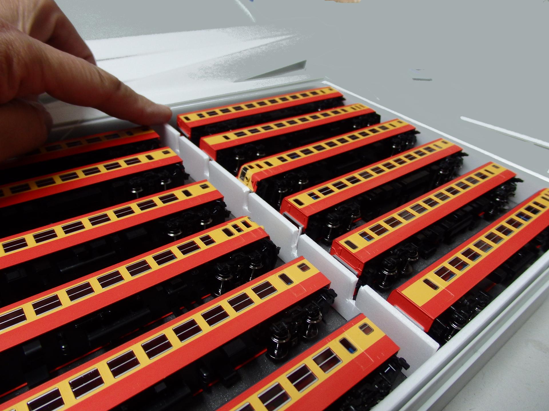 12両ひとまとめの合箱製作です。