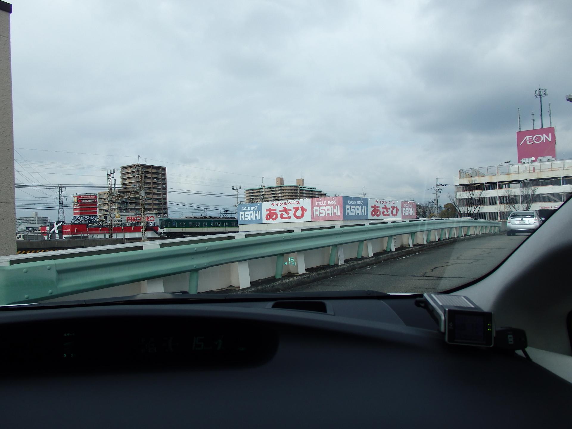 珍しく京阪電車との2ショットです。