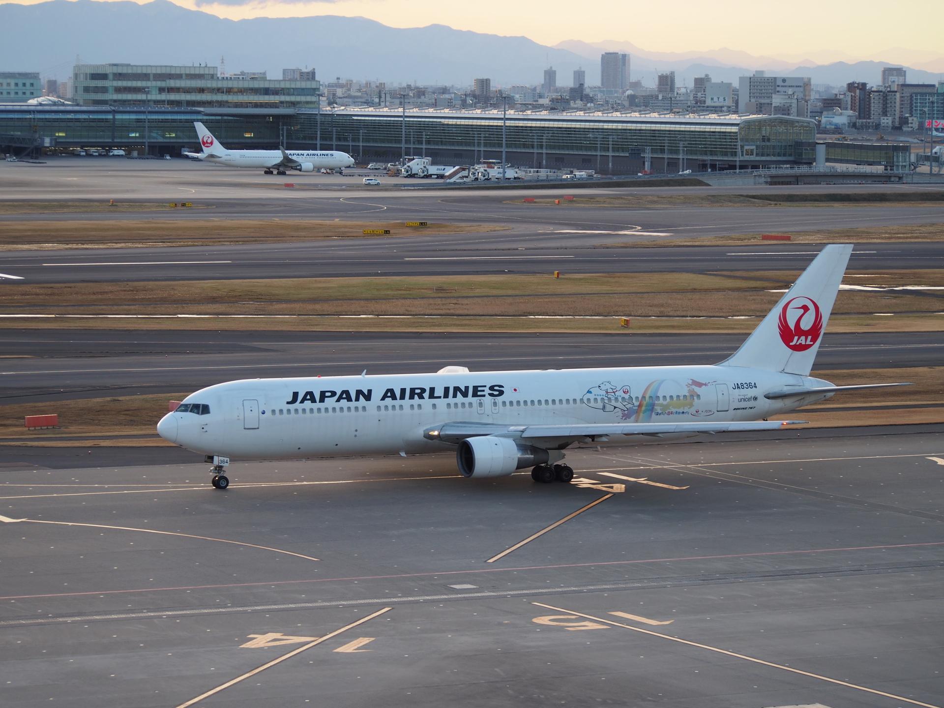 WAONジェット・B767-346/JA8364機です。