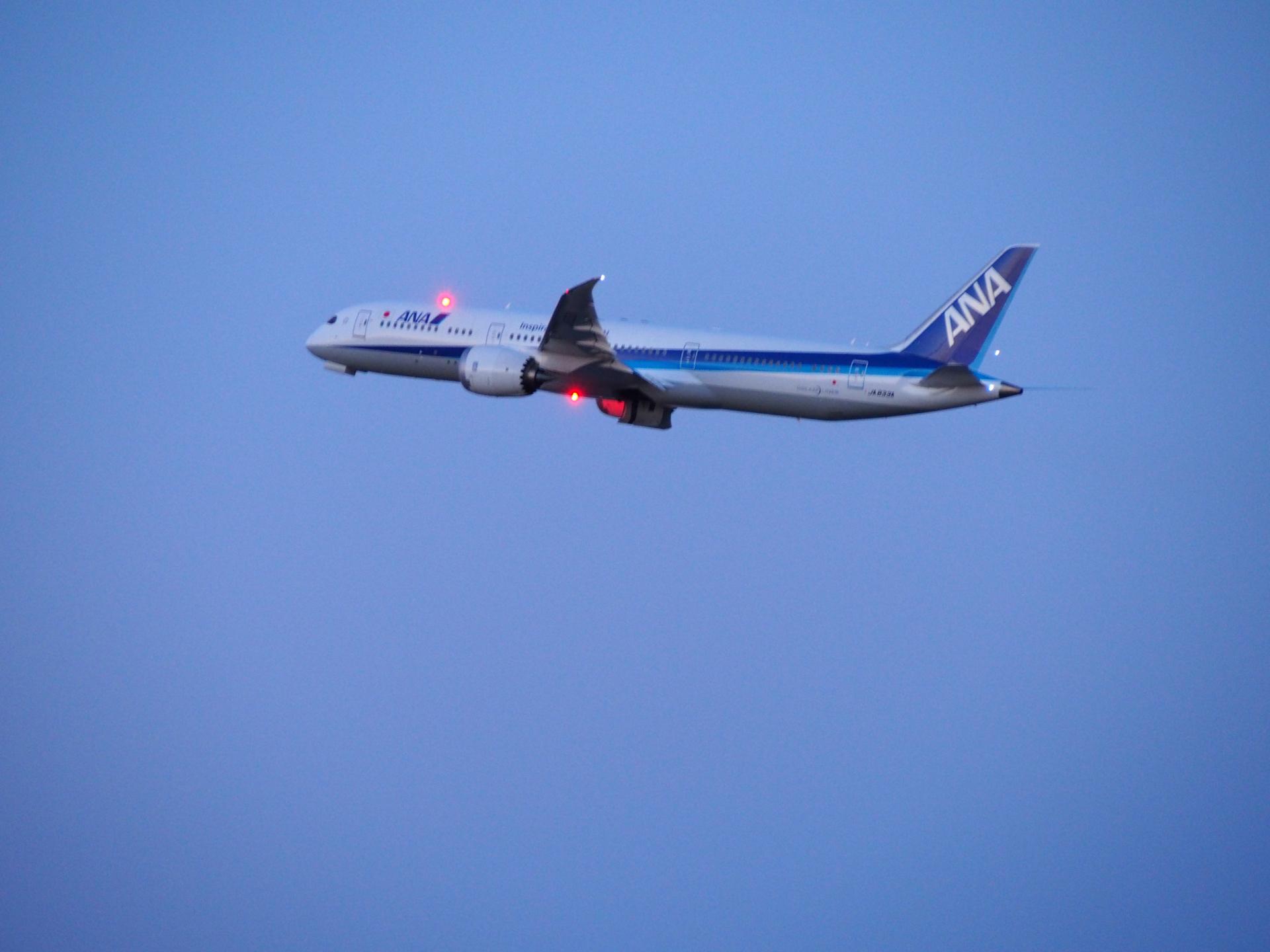 B787-9/JA833A機です。