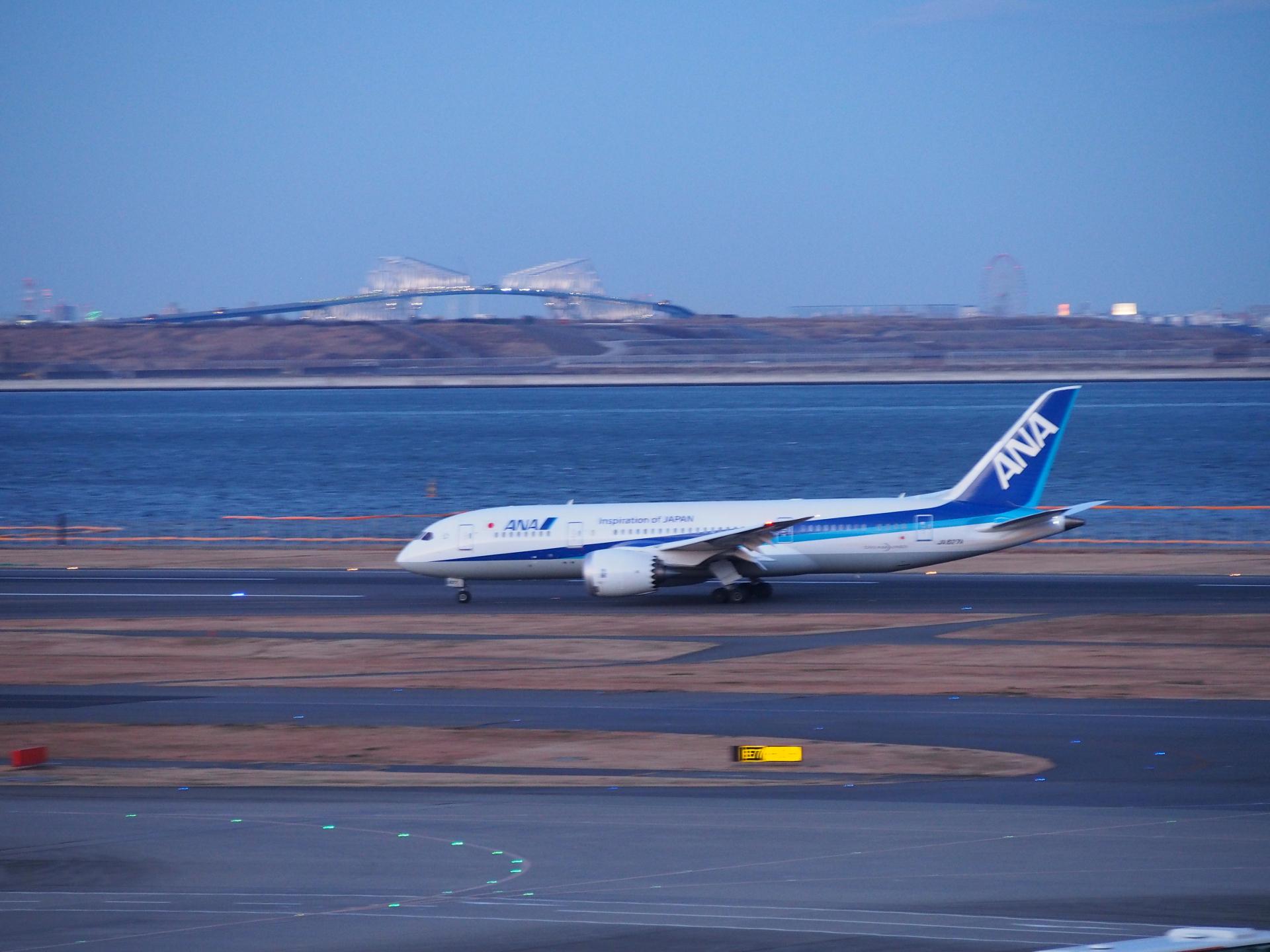 B787-8/JA827A機です。