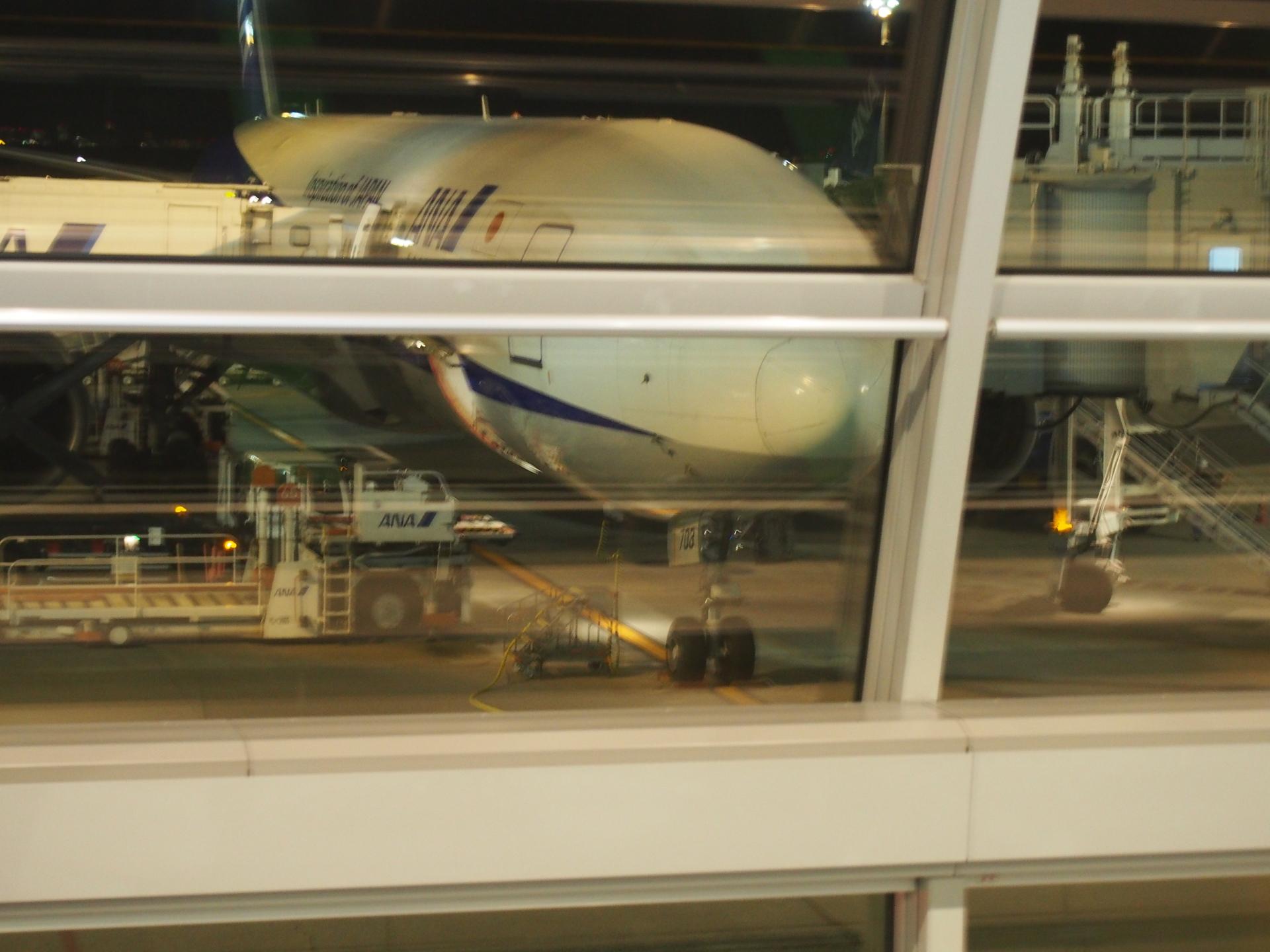 大阪伊丹行最終便です。