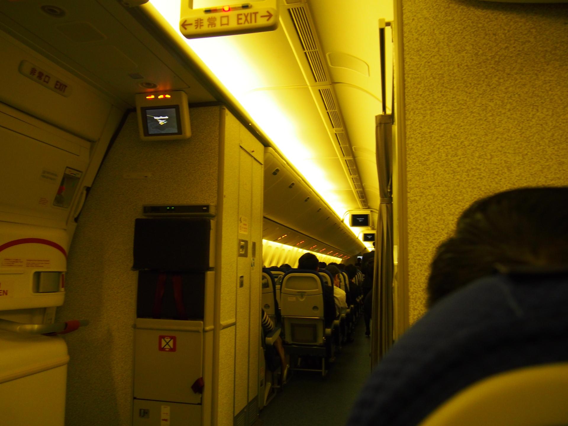 搭乗率は85%程度でした。