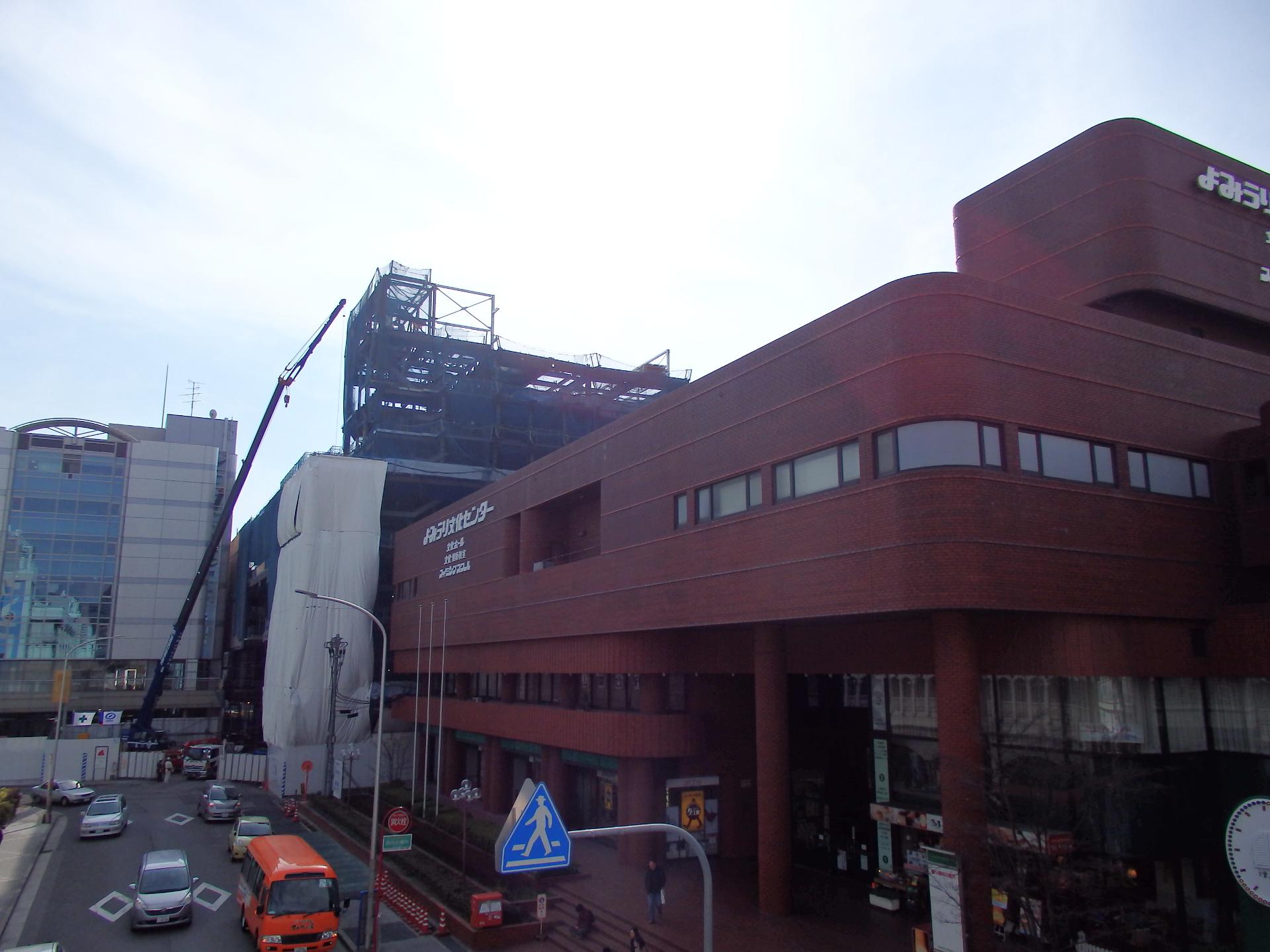 センリト・読売ビルの建設工事現場です。