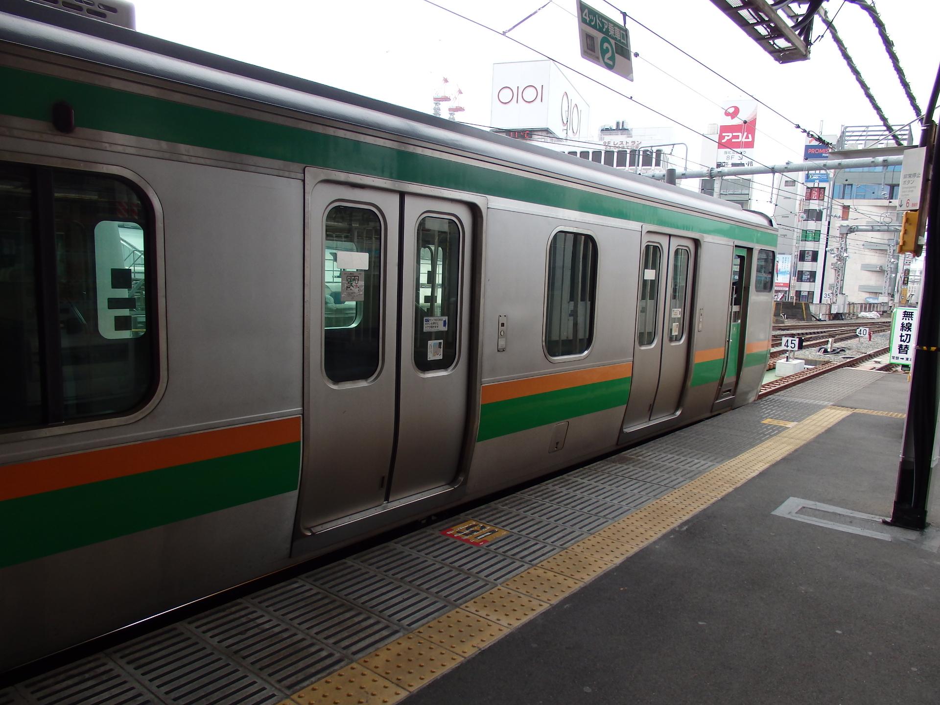 上野始発の宇都宮行き列車です。