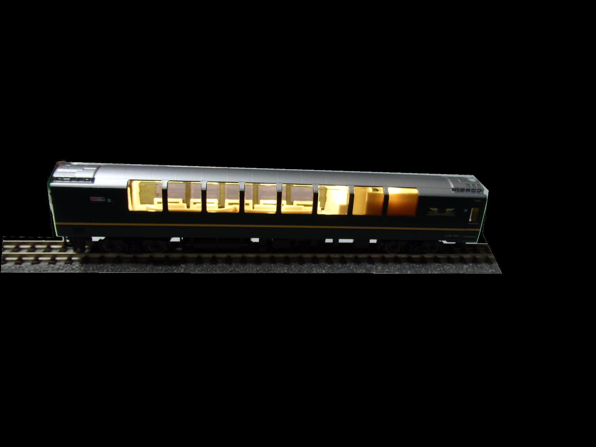 サロンカーへ室内灯取り付け。