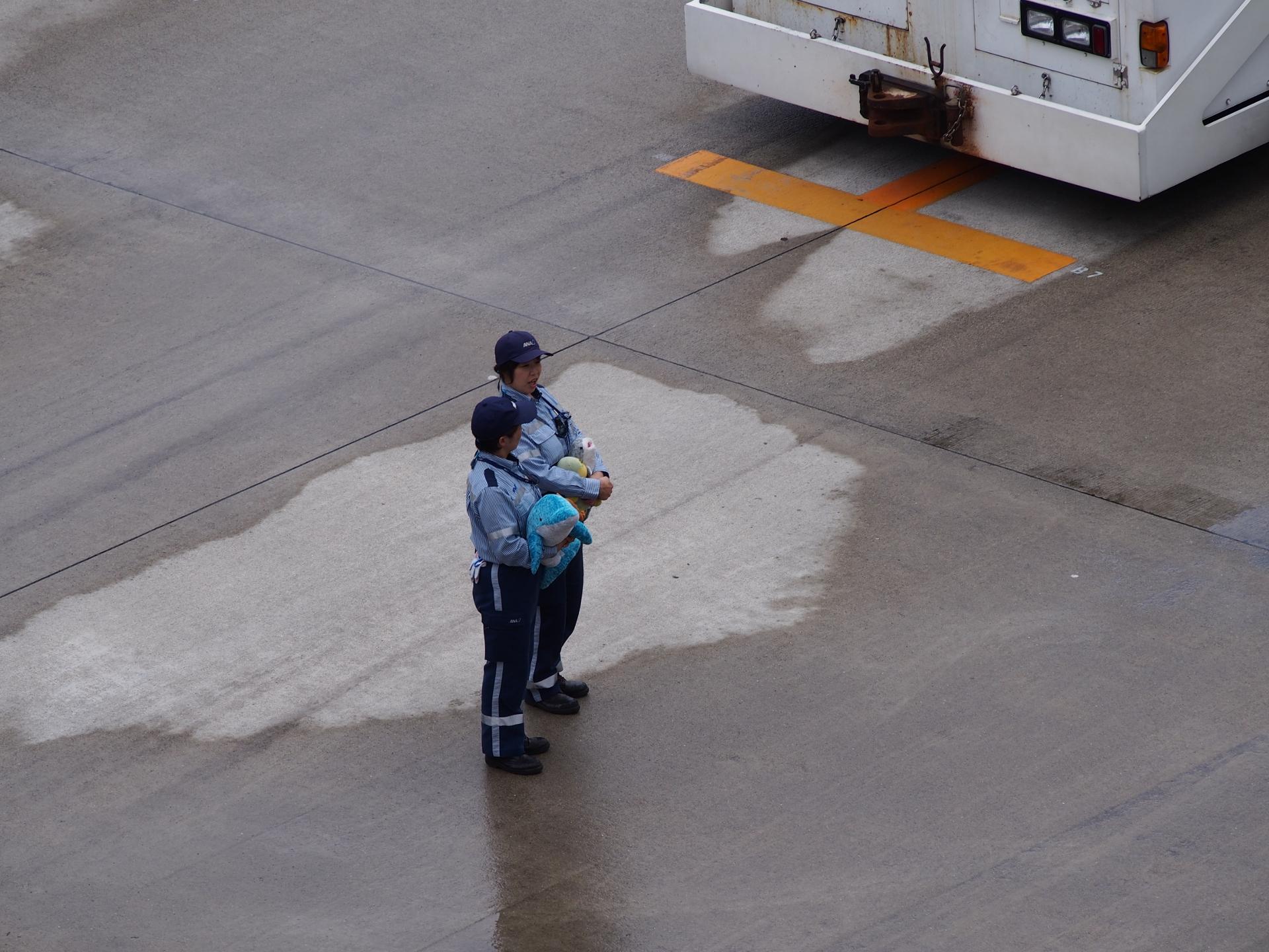 ソラシド・エア機のお見送りです。
