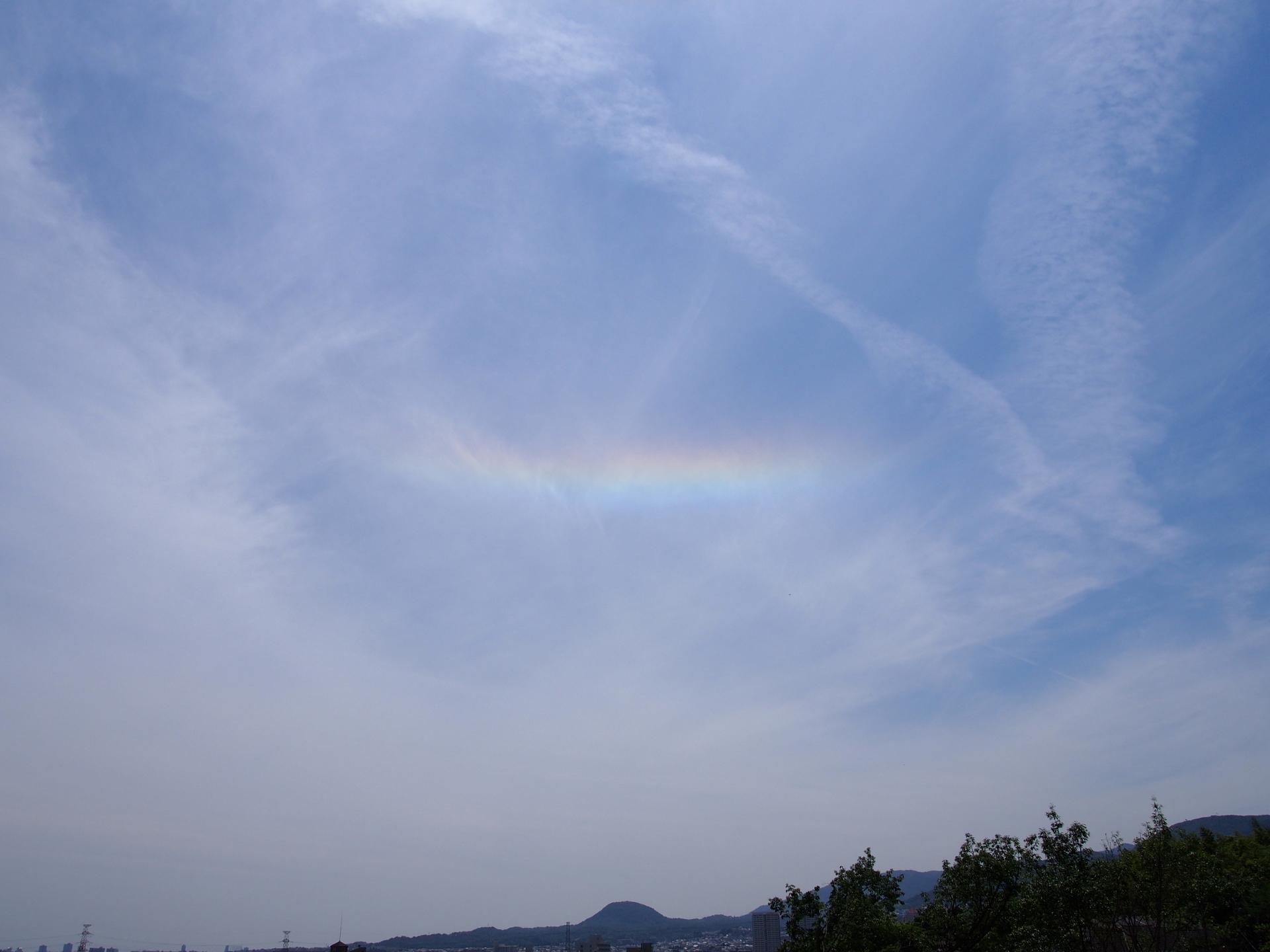 虹が立っていました。