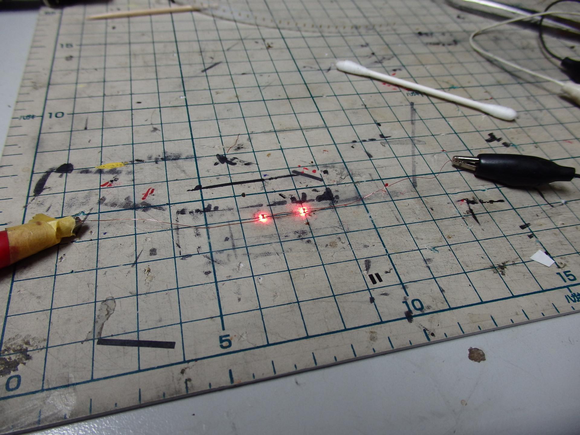 鉄コレ・阪神3011形のテールライトLEDの組み立てです。