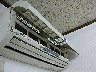 エアコンのフィルターを掃除しました。
