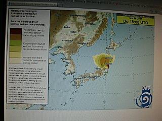 26日からの放射線拡散情報(DWD)です。