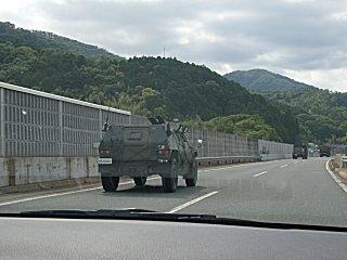 自衛隊の車輌がやたら多かったです。