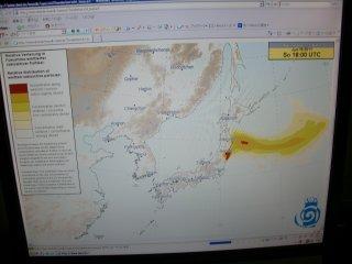 DWD予報では関西地区影響少ないです。
