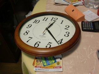 電波時計を設定・設置しました。