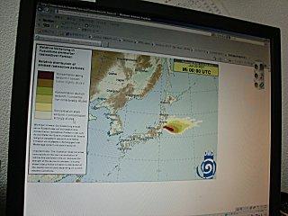 22日以降のDWD放射線拡散情報です。