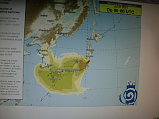 台風6号の影響で西日本も線量が高いです。