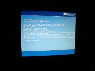SSDが小エラーを起こしていました。