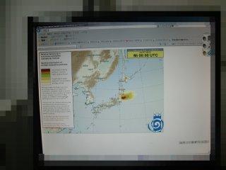 本日27日の放射線拡散情報です。