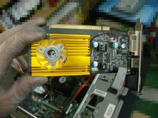 こちらは玄人志向GF210-LE512HDに交換。