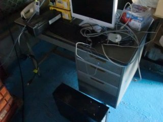 予備PCを現場に移動しました。設定は後日。
