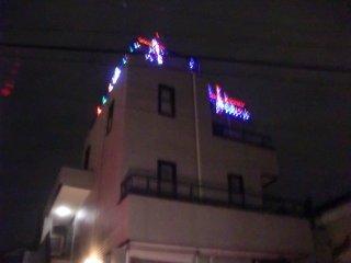 クリスマスイルミネーションです。